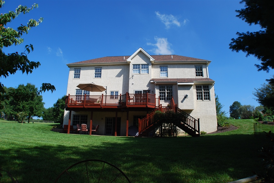 Real Estate Photography - 117 Cavender Ln, Landenberg, PA, 19350 - Butterfly Rear Staircase Off Deck