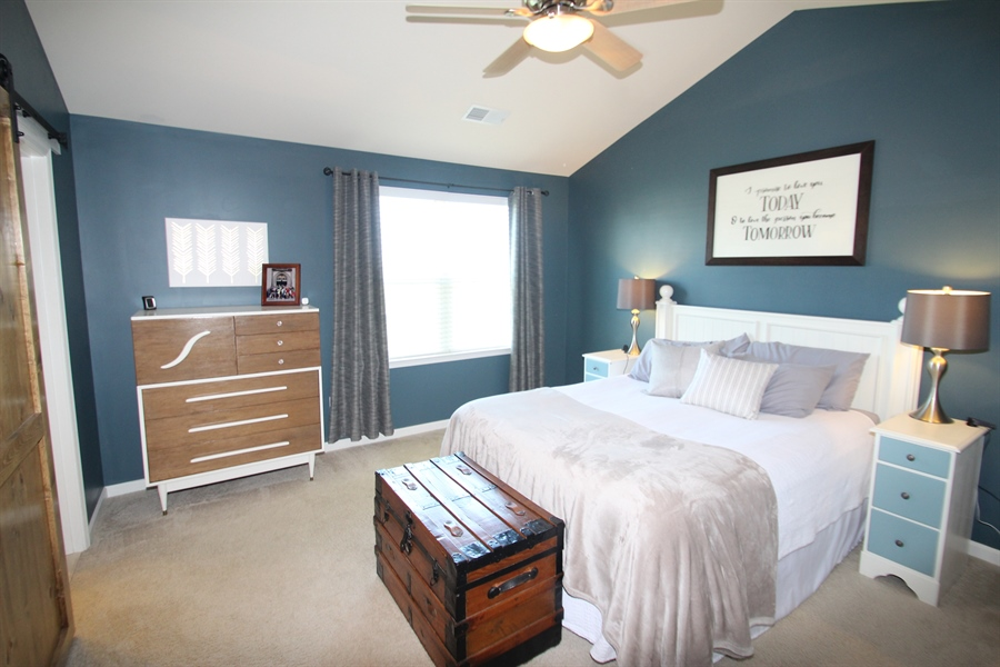 Real Estate Photography - 960 Lissicasey Loop, Middletown, DE, 19709 - Master Bedroom with vaulted ceiling