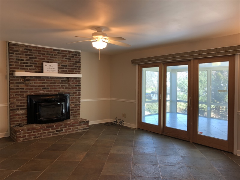 Real Estate Photography - 43 Pierson Dr, Hockessin, DE, 19707 - Family Room w/ wet bar & access to...