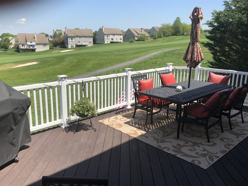 Real Estate Photography - 112 Portmarnock Dr, Avondale, PA, 19311 - Deck overlooking golf course.