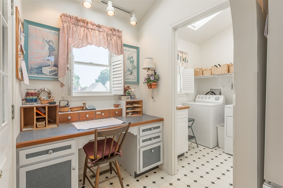 Real Estate Photography - 316 Pond Rd, Millsboro, DE, 19966 - Fabulous desk area between laundry room & kitchen.