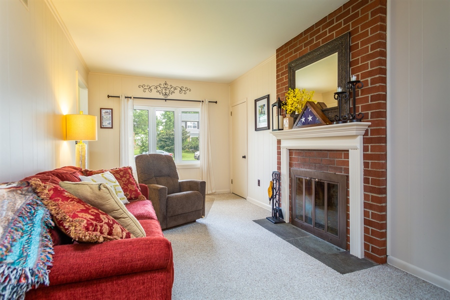 Real Estate Photography - 2214 Inwood Rd, Wilmington, DE, 19810 - family room with fireplace