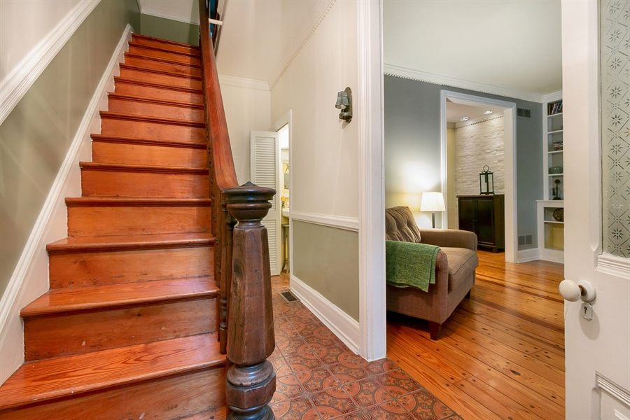 Real Estate Photography - 1003 Trenton Pl, Wilmington, DE, 19801 - Inviting Entry w/ Hardwoods Throughout