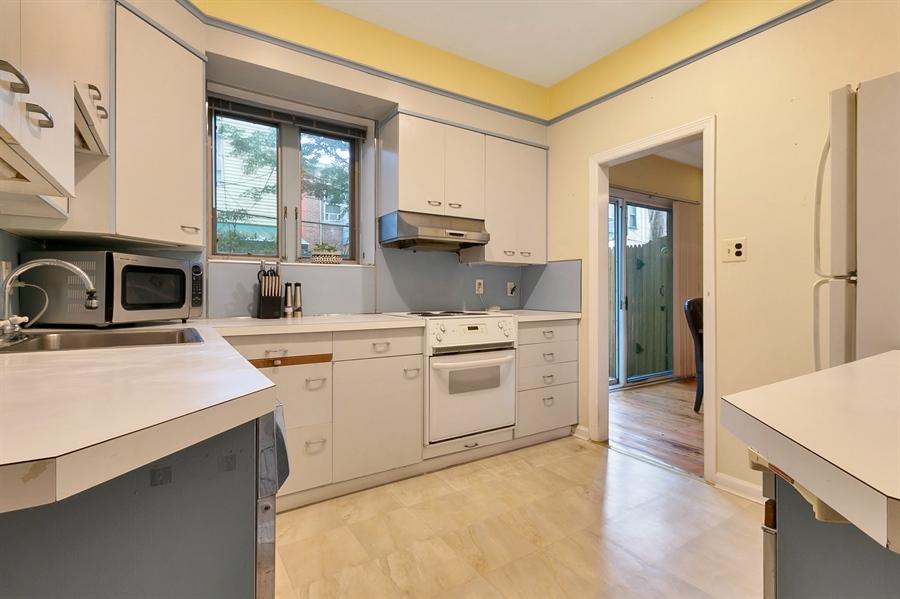 Real Estate Photography - 1003 Trenton Pl, Wilmington, DE, 19801 - Plenty of Space in Kitchen; Window overlooks Yard