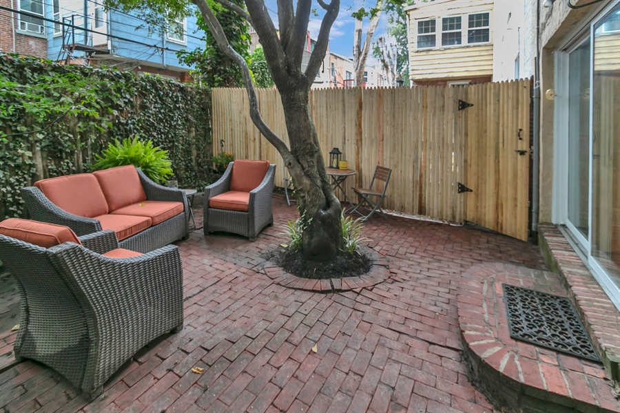 Real Estate Photography - 1003 Trenton Pl, Wilmington, DE, 19801 - Private with Fenced Yard and Beautiful Tree