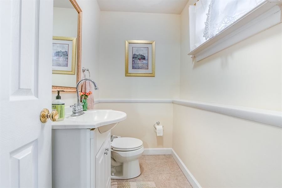 Real Estate Photography - 2911 Bodine Dr, Wilmington, DE, 19810 - Updated Powder Room