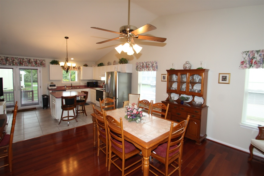 Real Estate Photography - 133 Willamette Dr, Bear, DE, 19701 - Dining Room open to Kitchen