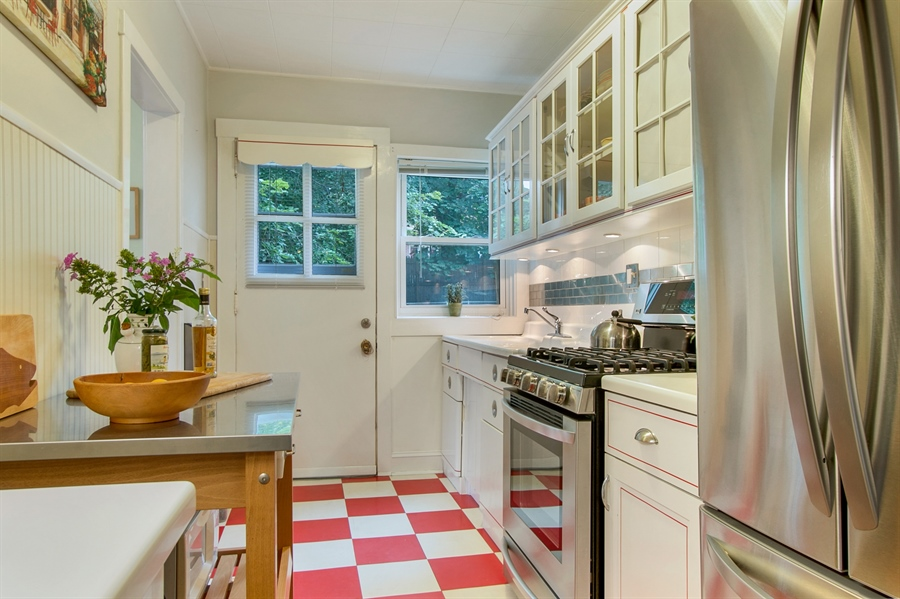 Real Estate Photography - 433 S Bancroft Pkwy, Wilmington, DE, 19805 - Rear Door Leads to Patio and Back Yard