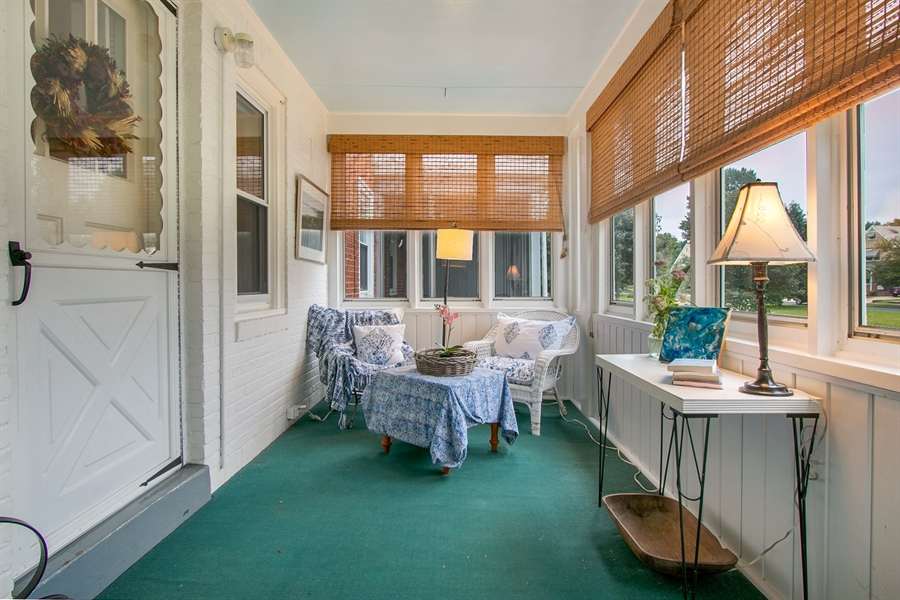 Real Estate Photography - 433 S Bancroft Pkwy, Wilmington, DE, 19805 - Enclosed Porch to Relax In