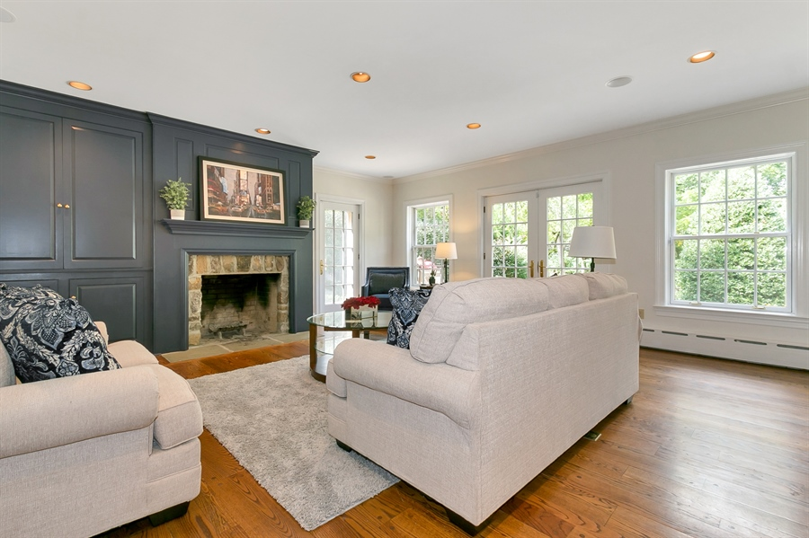 Real Estate Photography - 915 Westover Rd, Wilmington, DE, 19807 - Family Room with Fireplace