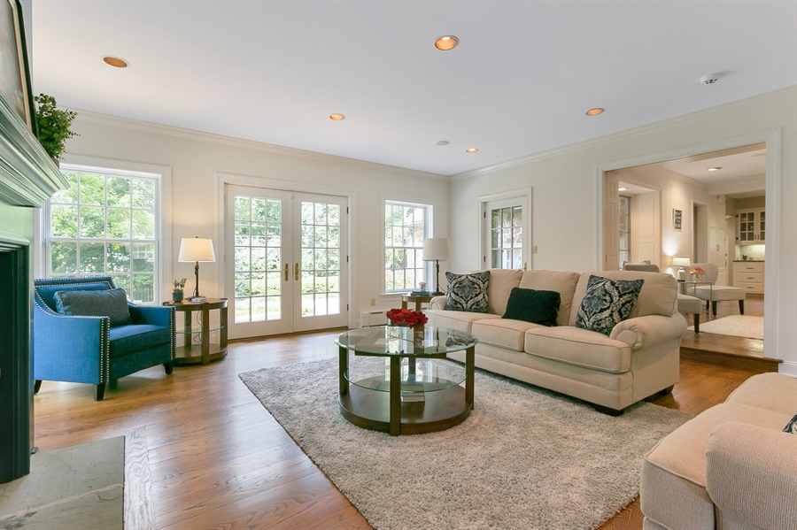 Real Estate Photography - 915 Westover Rd, Wilmington, DE, 19807 - Family Room overlooking Rear Yard