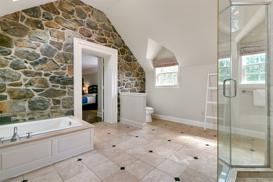 Real Estate Photography - 915 Westover Rd, Wilmington, DE, 19807 - Master Bath with Radiant Heat Floors