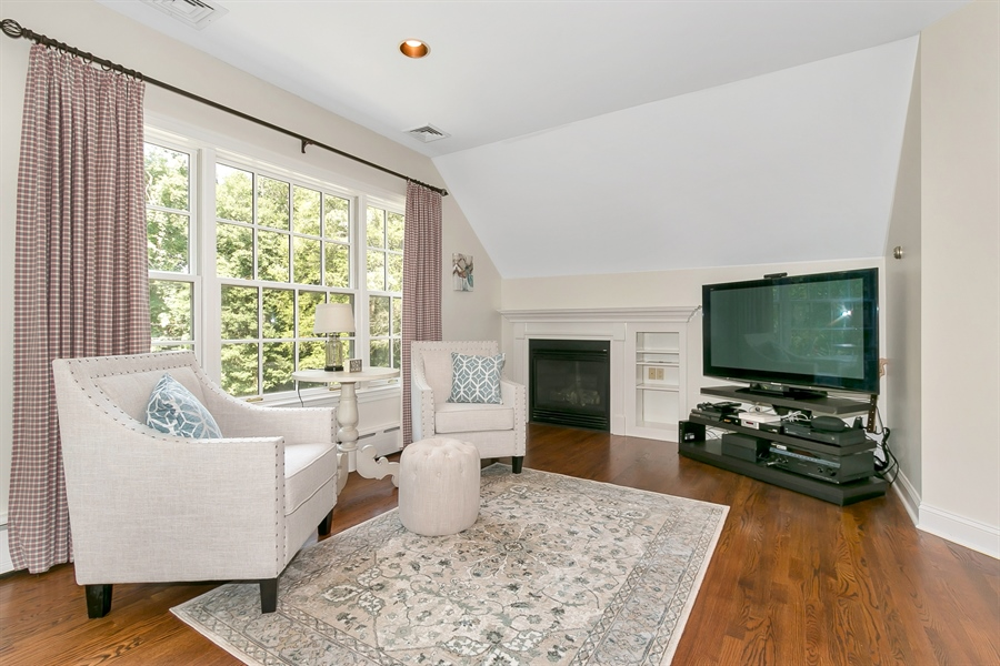 Real Estate Photography - 915 Westover Rd, Wilmington, DE, 19807 - Master Sitting Room with Fireplace