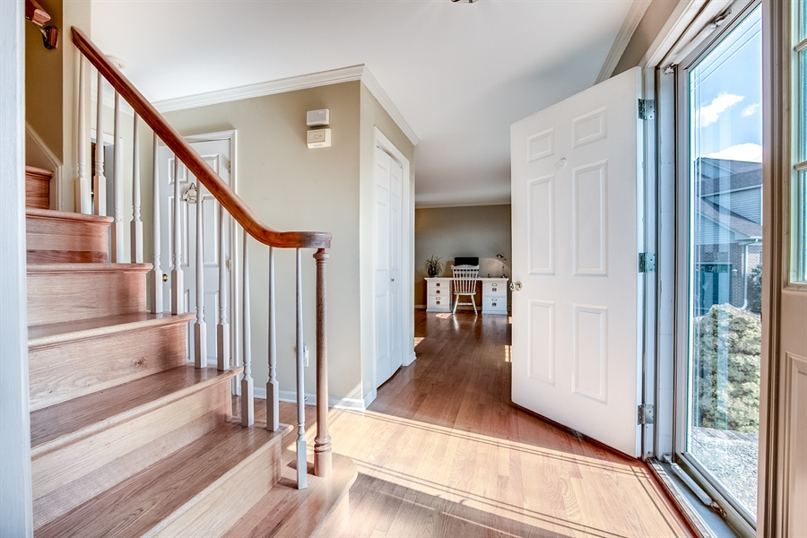 Real Estate Photography - 108 Philip Dr, Bear, DE, 19701 - Center Hall with Hardwood Floors