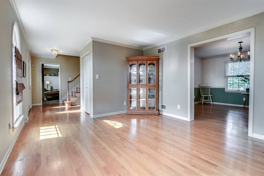 Real Estate Photography - 108 Philip Dr, Bear, DE, 19701 - Living Room with Hardwood Floors