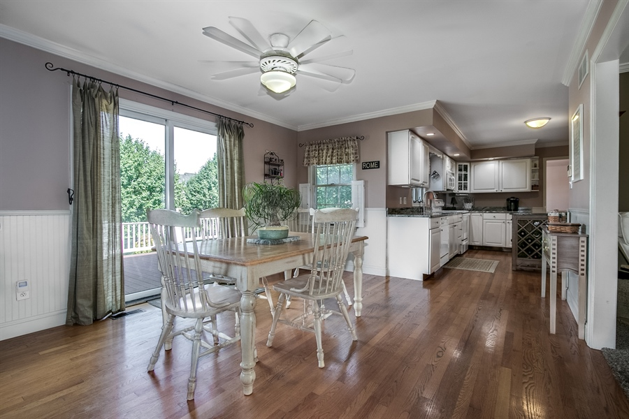 Real Estate Photography - 108 Philip Dr, Bear, DE, 19701 - Breakfast Room with Sliders to Rear Deck