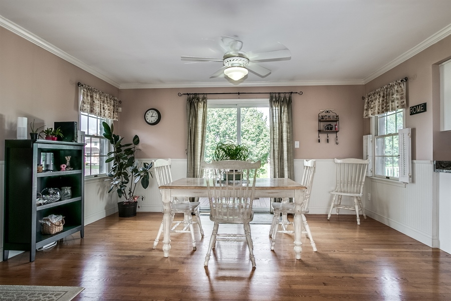 Real Estate Photography - 108 Philip Dr, Bear, DE, 19701 - Breakfast Room open to Family Room
