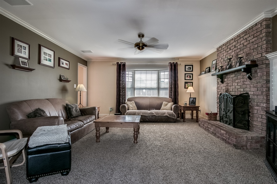 Real Estate Photography - 108 Philip Dr, Bear, DE, 19701 - Family Room with Fireplace