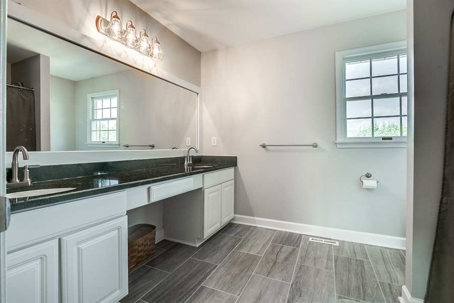 Real Estate Photography - 108 Philip Dr, Bear, DE, 19701 - Updated Master Bath