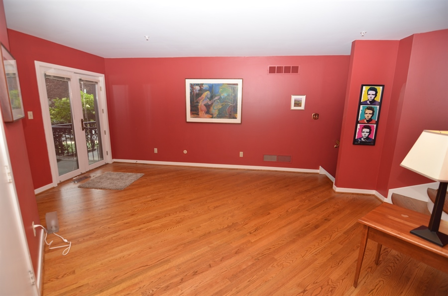 Real Estate Photography - 1219 Shallcross Ave, Wilmington, DE, 19806 - Family Room with Hardwood Floors