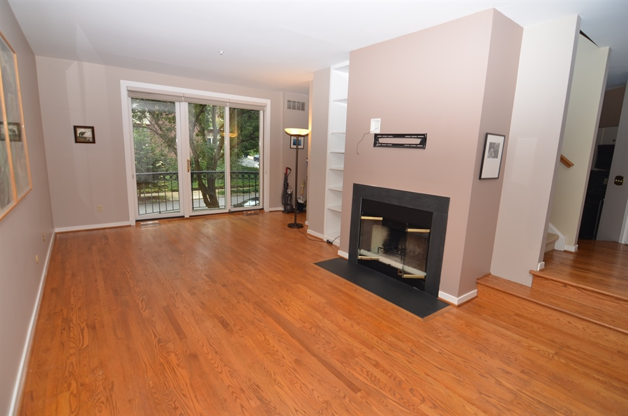 Real Estate Photography - 1219 Shallcross Ave, Wilmington, DE, 19806 - Living Room with Fireplace