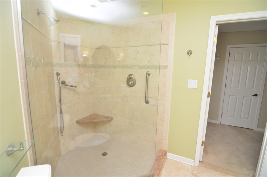 Real Estate Photography - 1219 Shallcross Ave, Wilmington, DE, 19806 - Master Bath with Walk in Shower