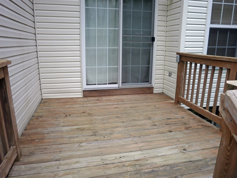 Real Estate Photography - 42 Highland Cir, Newark, DE, 19713 - View of rear deck from the steps