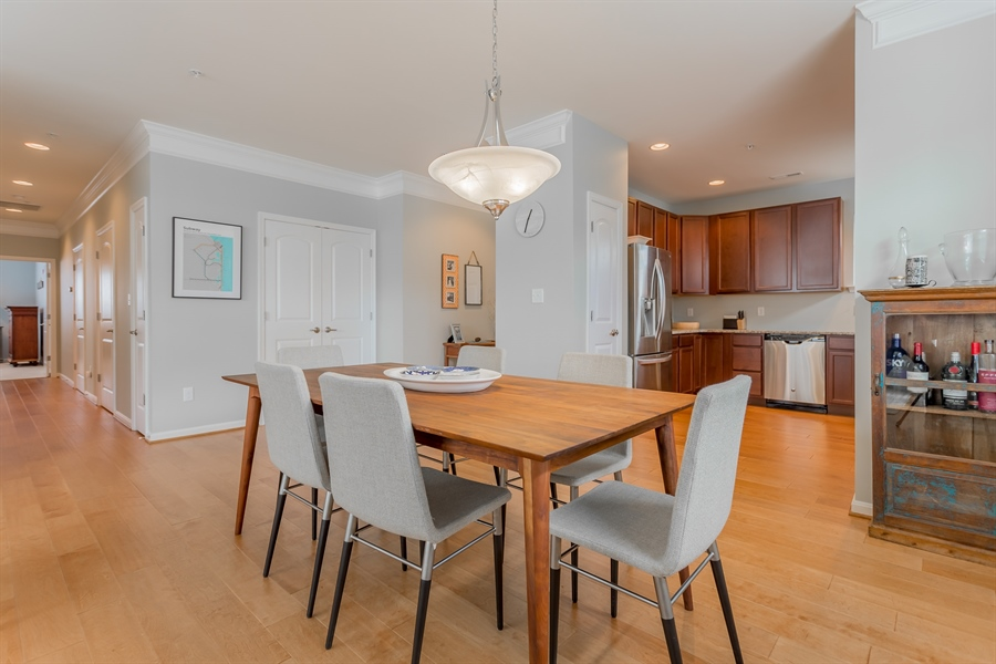 Real Estate Photography - 37684 Ulster Drive #1, 1, Rehoboth Beach, DE, 19971 - Open Dining Area to Kitchen