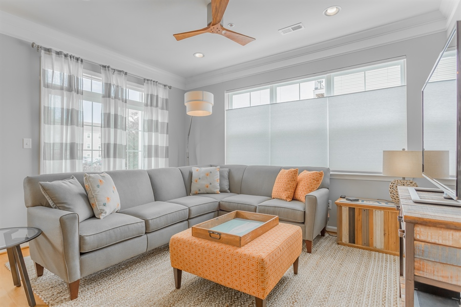 Real Estate Photography - 37684 Ulster Drive #1, 1, Rehoboth Beach, DE, 19971 - Living Room Provides Ample Seating
