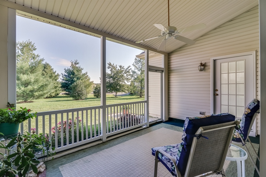 Real Estate Photography - 104 Dawn Ct, Middletown, DE, 19709 - Screened Porch
