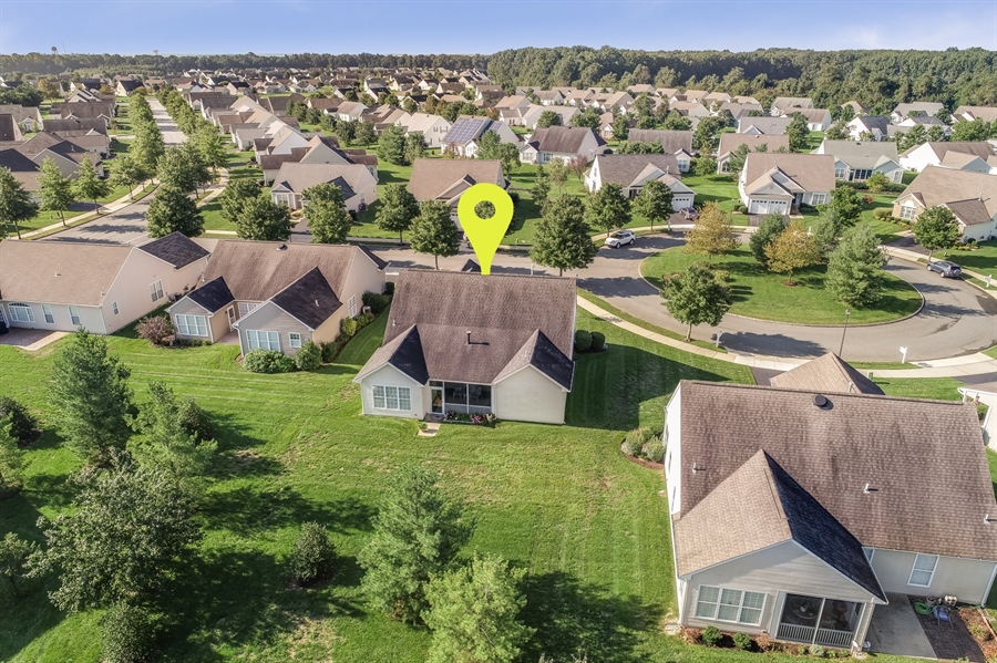 Real Estate Photography - 104 Dawn Ct, Middletown, DE, 19709 - Aerial View of back yard