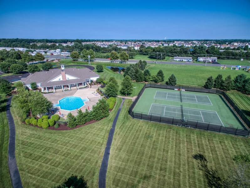 Real Estate Photography - 104 Dawn Ct, Middletown, DE, 19709 - Swimming pool and tennis courts