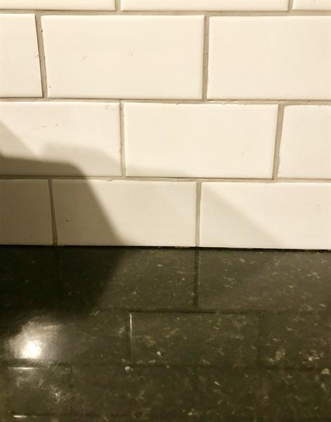 Real Estate Photography - 108 E 14th St, Wilmington, DE, 19801 - Tile Backsplash & Granite Countertops