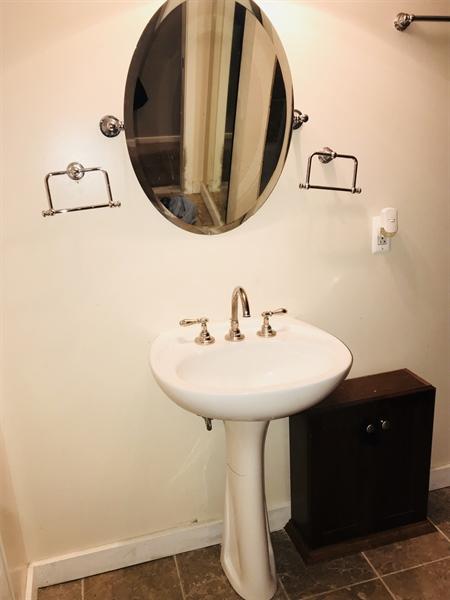 Real Estate Photography - 108 E 14th St, Wilmington, DE, 19801 - Pedestal Sink in Full Bath
