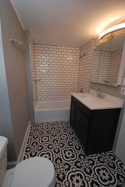 Real Estate Photography - 1804 W 16th St, Wilmington, DE, 19806 - brand new bathroom