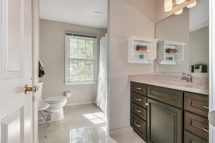 Real Estate Photography - 22 Harris Cir, Newark, DE, 19711 - Hall Bathroom