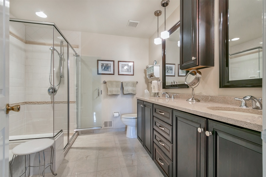 Real Estate Photography - 22 Harris Cir, Newark, DE, 19711 - Master Bathroom