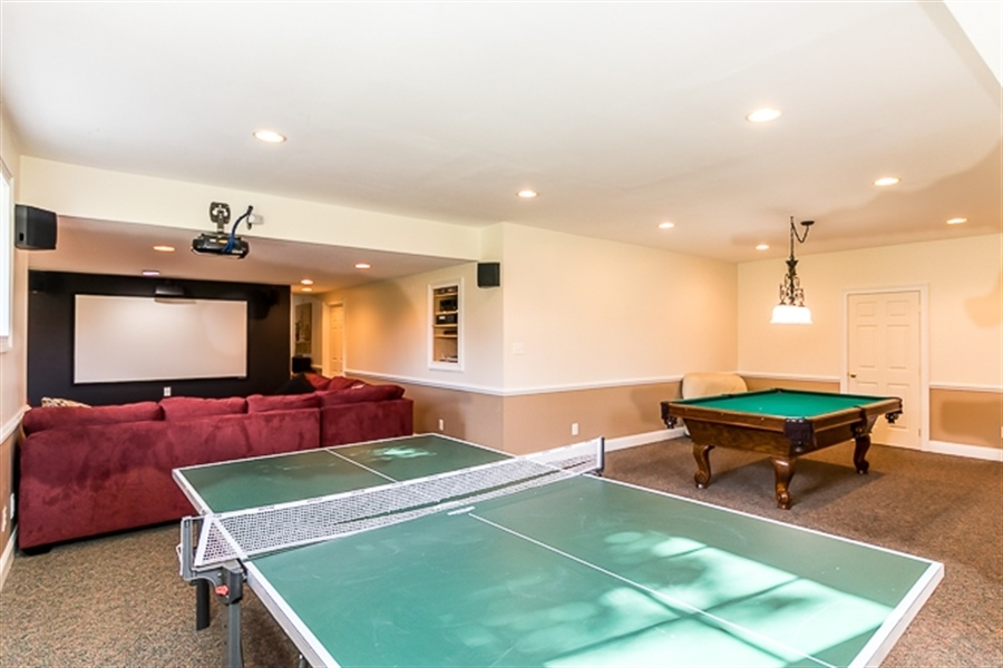 Real Estate Photography - 7 Derbyshire Way, Wilmington, DE, 19807 - game room and home theatre system