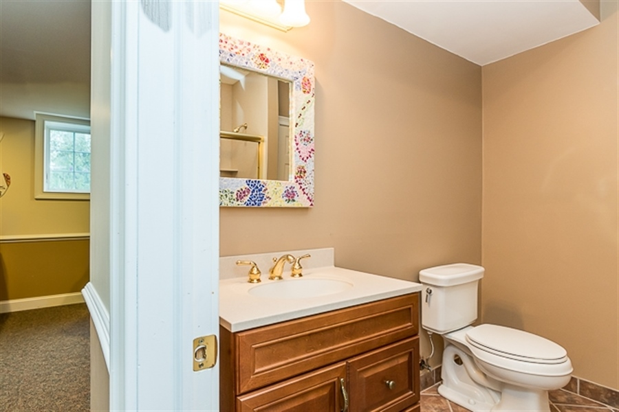 Real Estate Photography - 7 Derbyshire Way, Wilmington, DE, 19807 - 2nd view of bathroom in basement