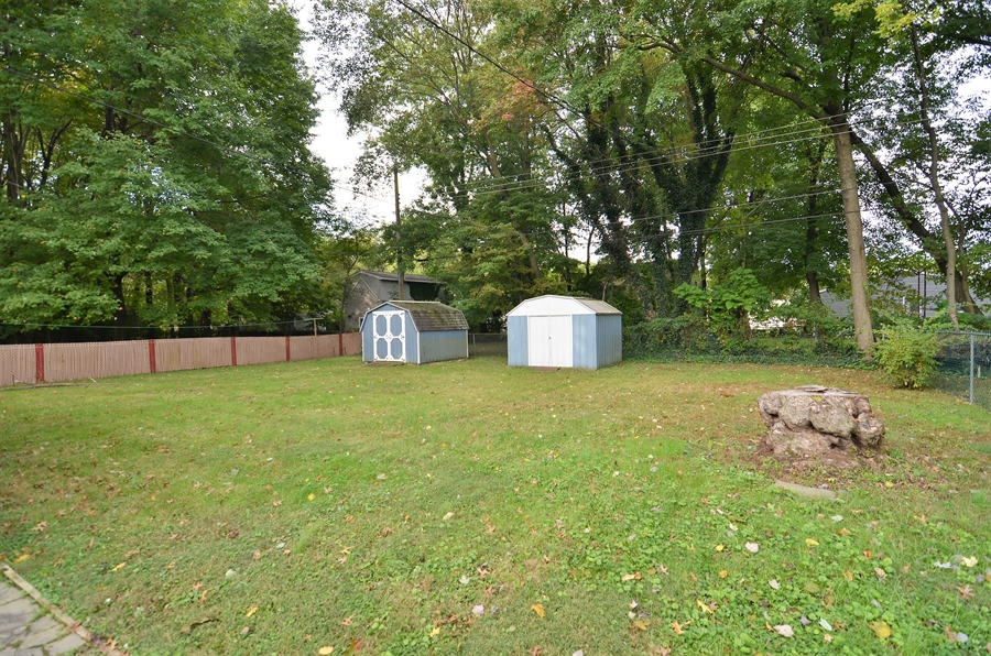 Real Estate Photography - 2384 2Nd Avenue, Boothwyn, DE, 19061 - Rear Yard with 2 Sheds