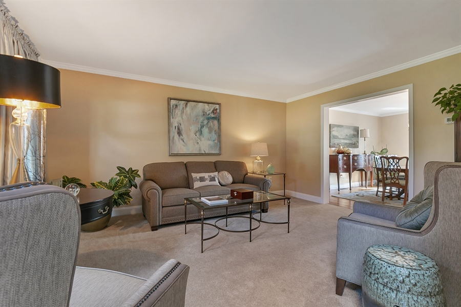 Real Estate Photography - 4 Eastridge Ct, Hockessin, DE, 19707 - Formal Living Room with Crown Molding