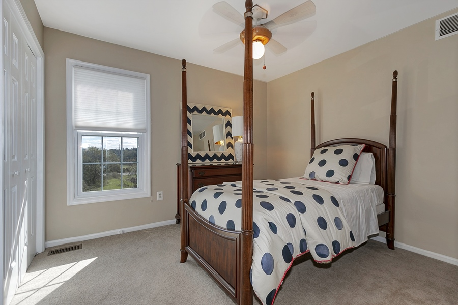 Real Estate Photography - 4 Eastridge Ct, Hockessin, DE, 19707 - Fourth Bedroom with Ceiling Fan