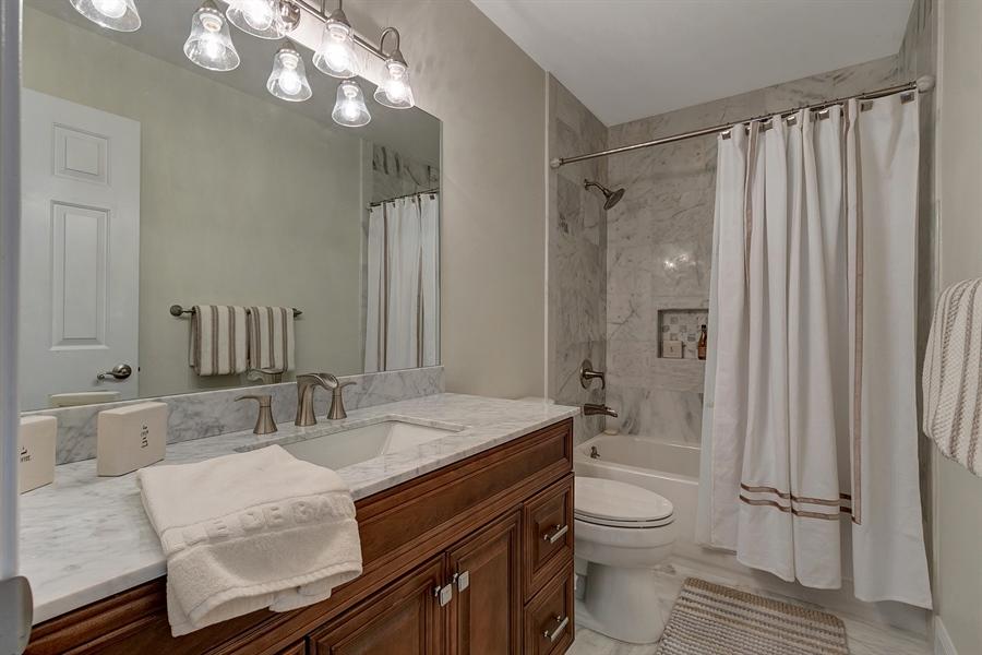 Real Estate Photography - 4 Eastridge Ct, Hockessin, DE, 19707 - Remodeled Bath with Upgraded Vanity & Fixtures