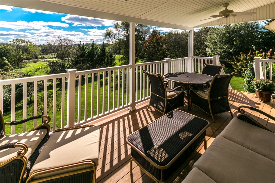 Real Estate Photography - 4 Eastridge Ct, Hockessin, DE, 19707 - Covered Porch with Great Views