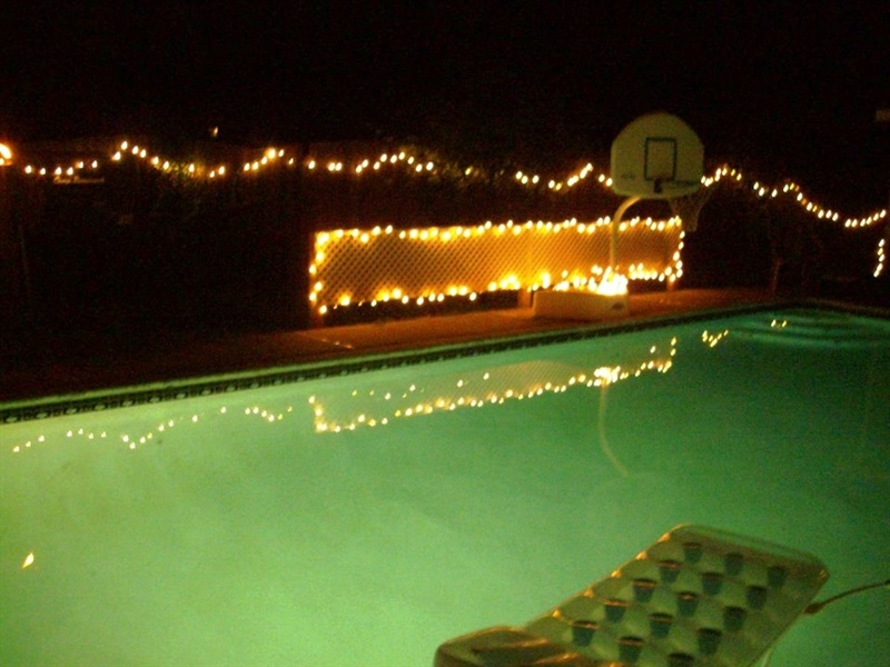 Real Estate Photography - 23 Dunbar Rd, Newark, DE, 19711 - Pool has lights for Evening Entertaining