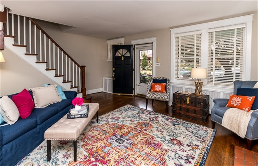 Real Estate Photography - 2417 W 18th St, Wilmington, DE, 19806 - Spacious living room entry with natural light