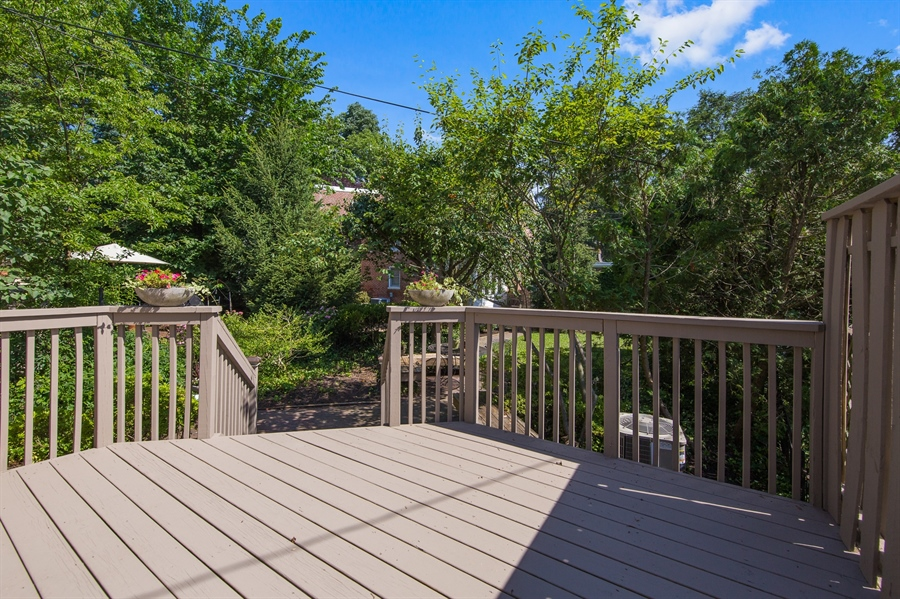 Real Estate Photography - 2417 W 18th St, Wilmington, DE, 19806 - Deck conveniently located off of kitchen
