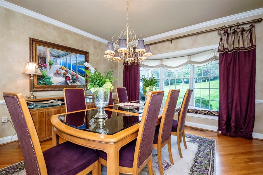 Real Estate Photography - 16 Withers Way, Hockessin, DE, 19707 - Dining Room has Triple Bay Window