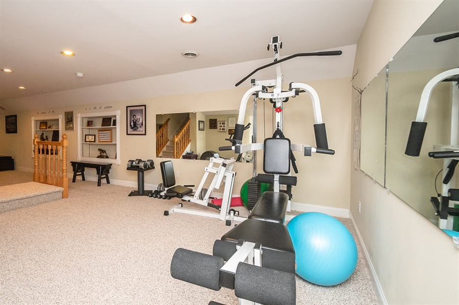 Real Estate Photography - 16 Withers Way, Hockessin, DE, 19707 - Home Gym on Lower Level