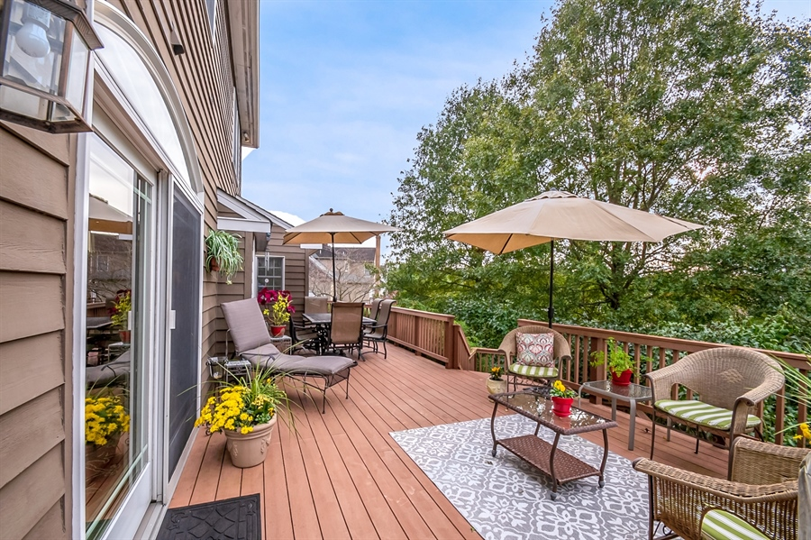 Real Estate Photography - 16 Withers Way, Hockessin, DE, 19707 - Deck with Scenic Views